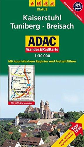 Kaiserstuhl, Tuniberg, Breisach: 1:30000. Schwarzwald. GPS-genau (ADAC Rad- und WanderKarte)