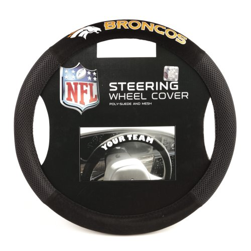 NFL Denver Broncos Poly-Suede Steering Wheel Cover (Denver Broncos Merchandise)