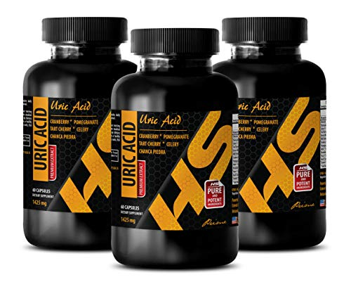 antioxidant Supplement - URIC Acid - Premium EXTRACTS - Urinary Tract - 3 Bottles (180 Capsules) by HS PRIME (Image #7)
