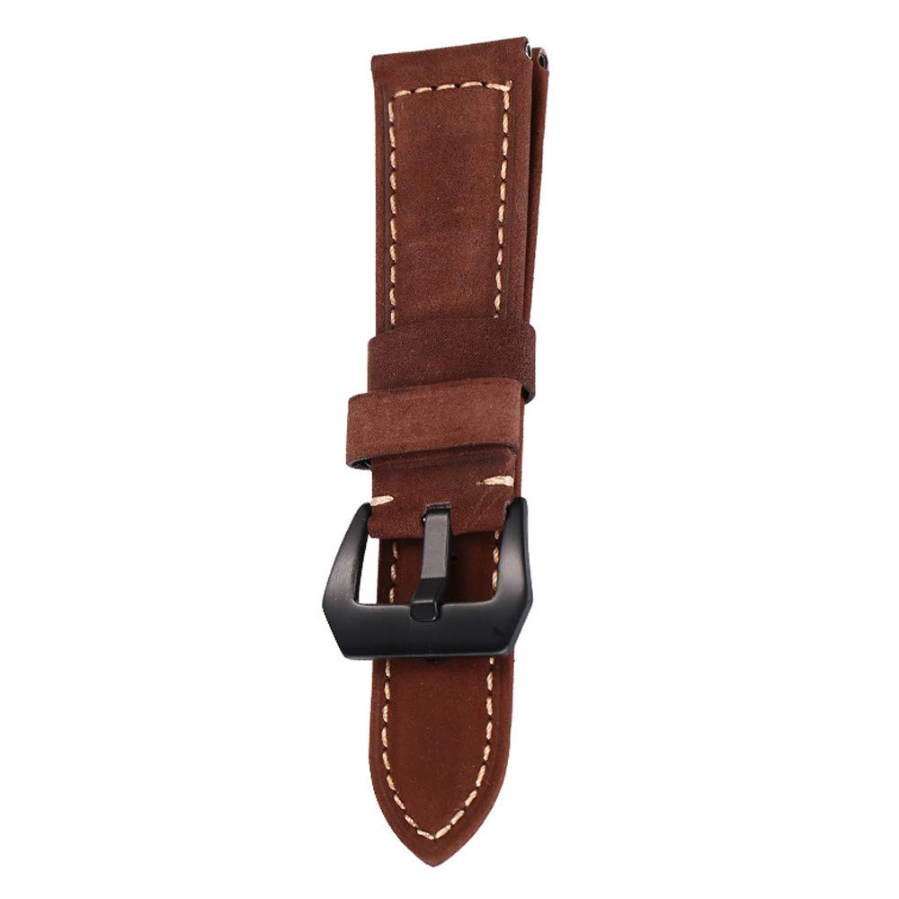 JDgoods Watch Band Replacement Leather Padded Buckle Wrist Band Strap 22 MM Brings New Life to Any Watch (Brown)