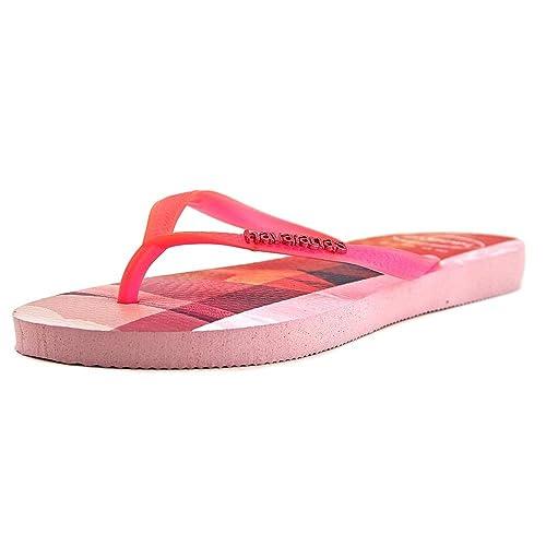 Havaianas Women's Slim Paisage Flip Flop, White,38/40 BR / 9/10 W US
