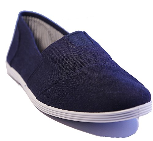 Slip On Navy In Tela Navy
