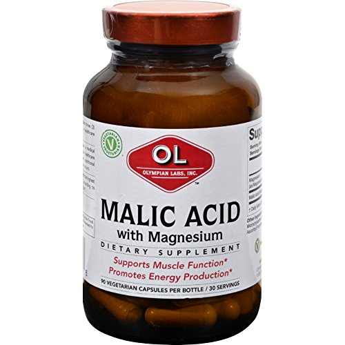 (2Pack! Olympian Labs Malic Acid with Magnesium - 90 Vegetarian Capsules)