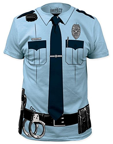 Impact Originals Police Cop Uniform Costume Tee (Men Cop Costumes)