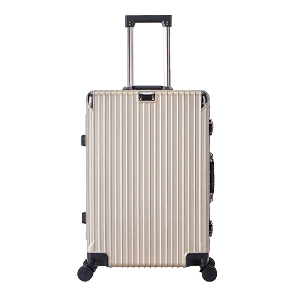 荷物箱、普遍的な車輪のスーツケース、PCのジッパーのトロリー箱、方法搭乗袋、-gold2-M Medium gold2 B07RKPJMP6