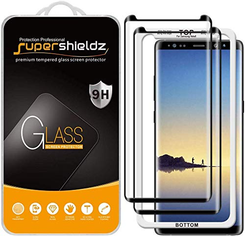 (2 Pack) Supershieldz for Samsung Galaxy Note 8 Tempered Glass Screen Protector with (Easy Installation Tray) 0.33mm, Anti Scratch, Bubble Free