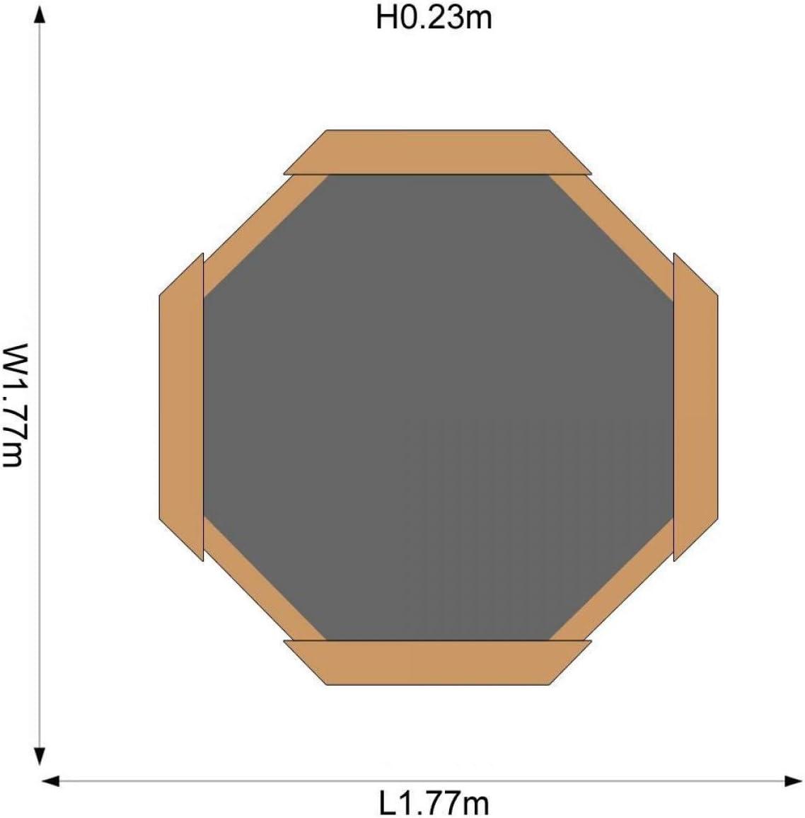 Plum 25058 - Piscina de Arena Octogonal (Madera, 1,77 x 1,77 x 0 ...