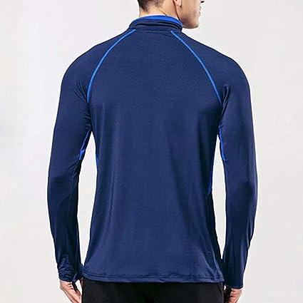 Herren Sport Quartal/Postleitzahl/Laufen Aktiv Fitness T-Shirts/Trainieren Lange /Ärmel Jersey mit Daumen L/öcher