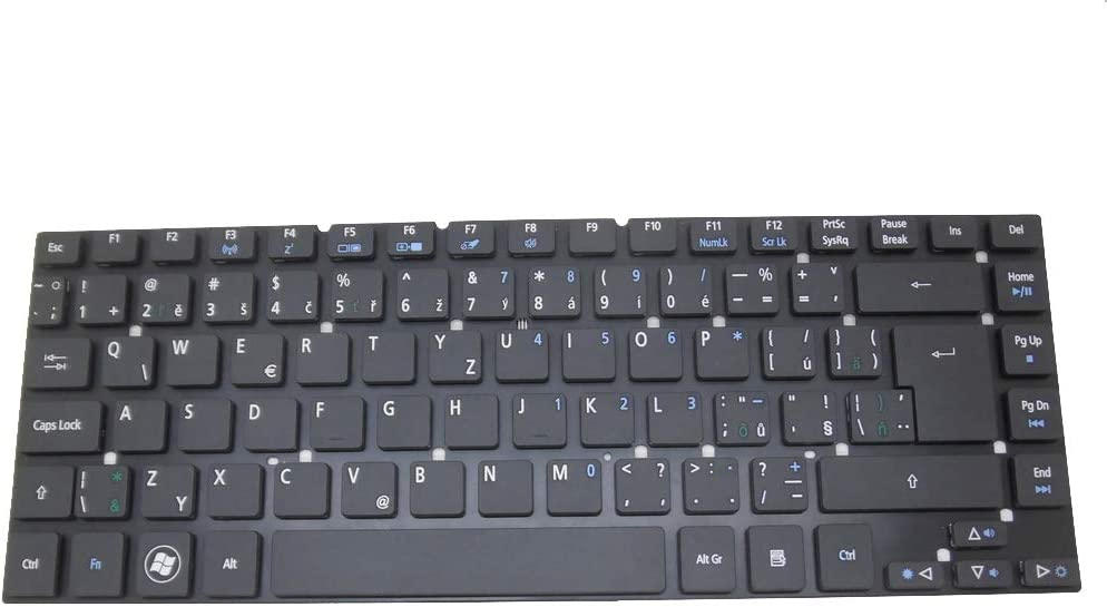 Laptop Keyboard for Acer Aspire One 10 S1001 3830G 3830TG 4755 4830G 4830TG V3-472G V3-472P V3-472PG Timeline 3830TG Czech CZ Black NO Frame