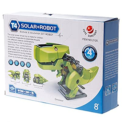 4-in-1 Solar Robot Science & Education DIY Fun Teach Construction Creative Magnetic Kids...