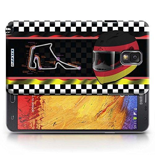 Etui / Coque pour Samsung Galaxy Note 3 / Allemagne conception / Collection de F1 Piste Drapeau