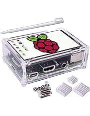 Kuman 3.5 pollici Touchscreen,TFT Monitor LCD Display Risoluzione 320 * 480 con custodia protettiva, 3x dissipatori di calore, 1x Touch Pen per Raspberry Pi 3, Pi 2 & Pi Modello B SC11