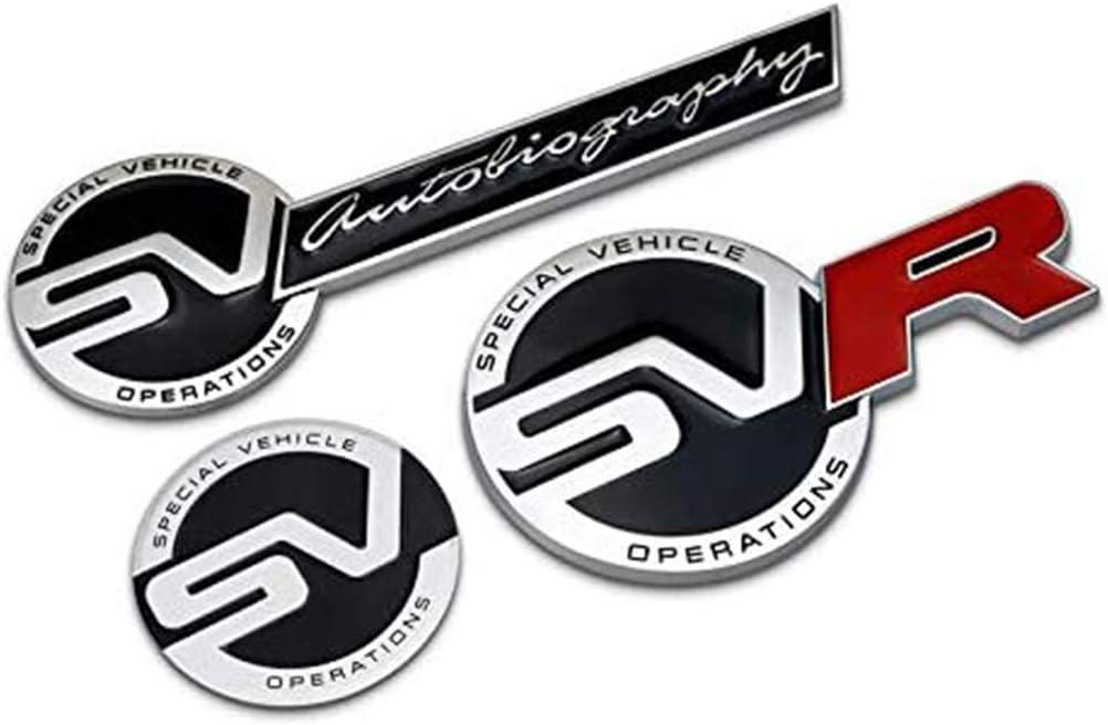 Car Styling Etiqueta Engomada Del Coche 3d Emblema De La Parrilla Delantera Logo Etiqueta Engomada Del Coche Calcoman/íA Accesorios Para Autom/óViles Para Range Rover Sport Discovery Freelander Sv Svr