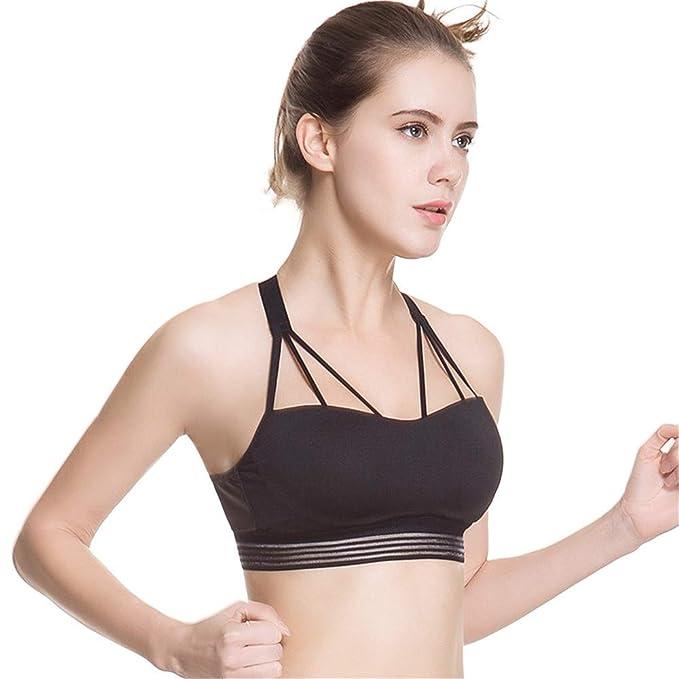 Shirloy Sujetador Deportivo Crossover cómodo y Transpirable Fitness de Secado rápido Running Sports Underwear: Amazon.es: Ropa y accesorios