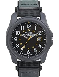 Men's T42571 Expedition Camper Gray Nylon Strap Watch