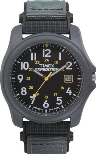 Timex Men's T42571 Expedition Camper Gray Nylon Strap Watch - Gray Nylon Strap