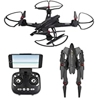 NiGHT LiONS TECH Cool Drone 920 FPV Wide angle 2.4Ghz 6-Axis Multifunction Foldable Arm Altitude Hold Big remote Control RC Quadcopter With HD Camera For Outdoor Fly Remote Control UFO Ready To Fly
