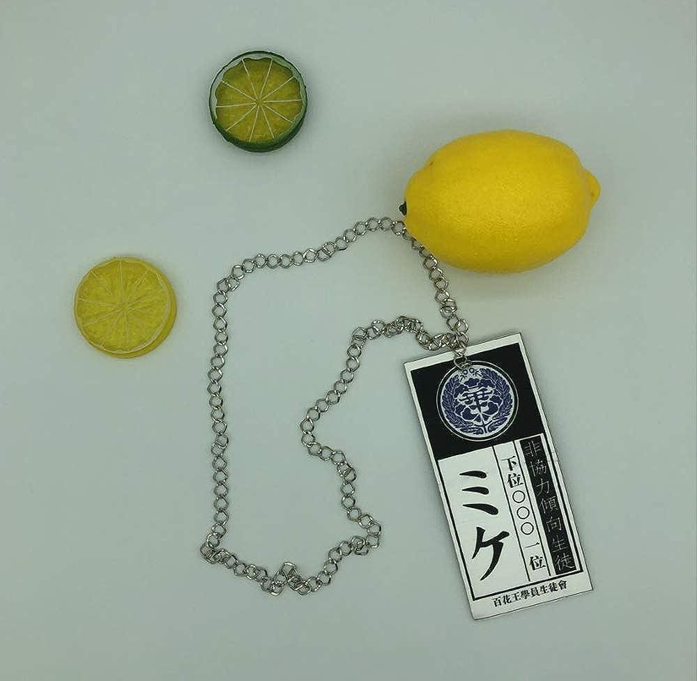 futurecos Kakegurui Housepet Tag Necklaces for Jabami Yumeko Cosplay Mike Tag Neck Chains