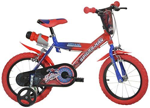 Spiderman Spiderman Kinderfiets voor jongens, 14 inch, originele licentie, kinderfiets met steunwielen, de fiets van…