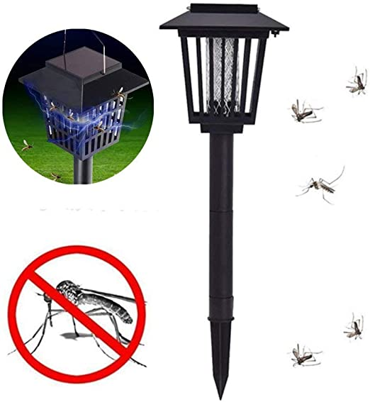 Weikeya Eléctrico Exterior Mosquito Asesino Lámpara Impermeable, Fly Insecticida UV Luz, Electrónico Matamoscas Plaga Mosquito Insecticida Jardín Césped Lámpara LED: Amazon.es: Hogar