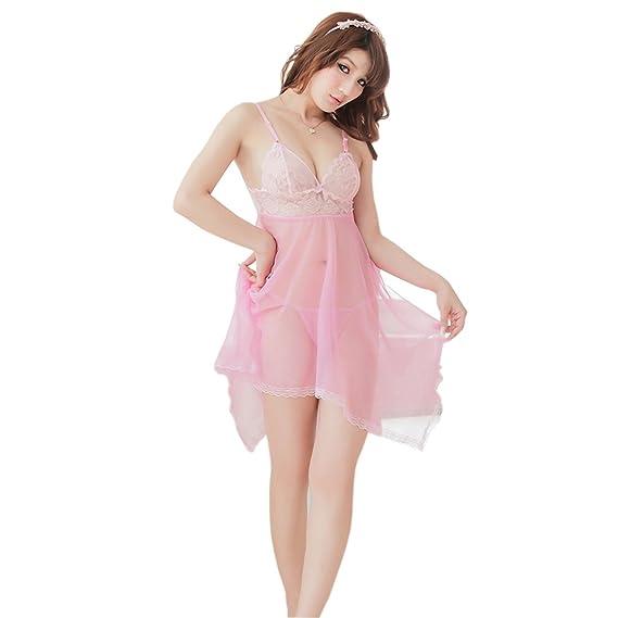 139138ba60125a Jara Collection Women s Net Short Length Babydoll Night Dress (Pink ...