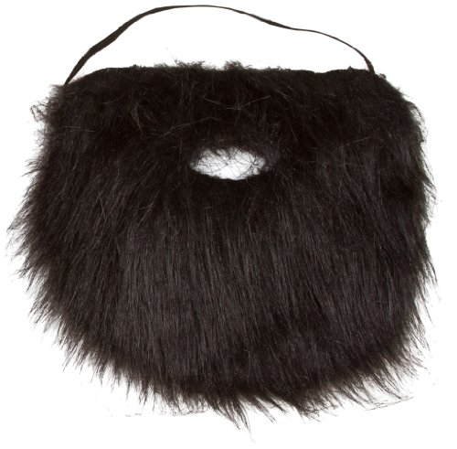 Allures & Illusions Novelty Fake Beard - Costume and Party Black or White Beard