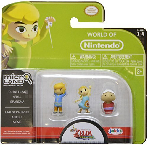 World of Nintendo, Micro Land, Legend of Zelda: Windwaker HD, Outset Link, Aryll and Grandma Figures
