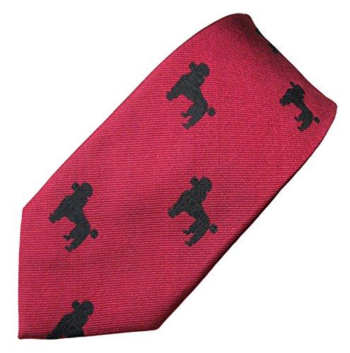 Poodle (Black) Tie (Men's Dog Breed Neck Tie) (Poodle Tie)