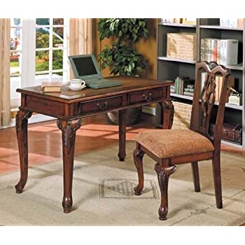 Amazon 2pc home office writing desk side chair set kitchen 2pc home office writing desk side chair set gumiabroncs Choice Image