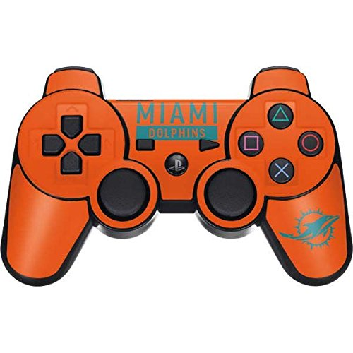 Skinit NFL Miami Dolphins PS3 Dual Shock wireless controller Skin - Miami Dolphins Orange Performance Series Design - Ultra Thin, Lightweight Vinyl Decal ()