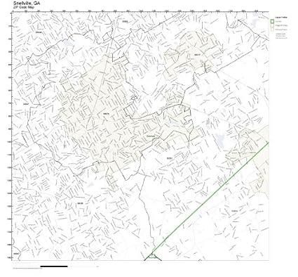 Amazon.com: ZIP Code Wall Map of Snellville, GA ZIP Code Map