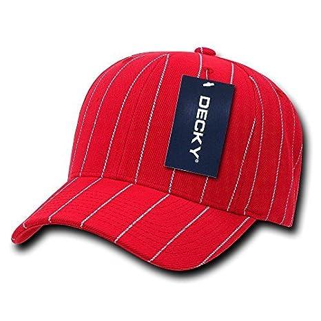 1c69f2dad811f Amazon.com   DECKY Pin Striped Adjustable Ball Cap