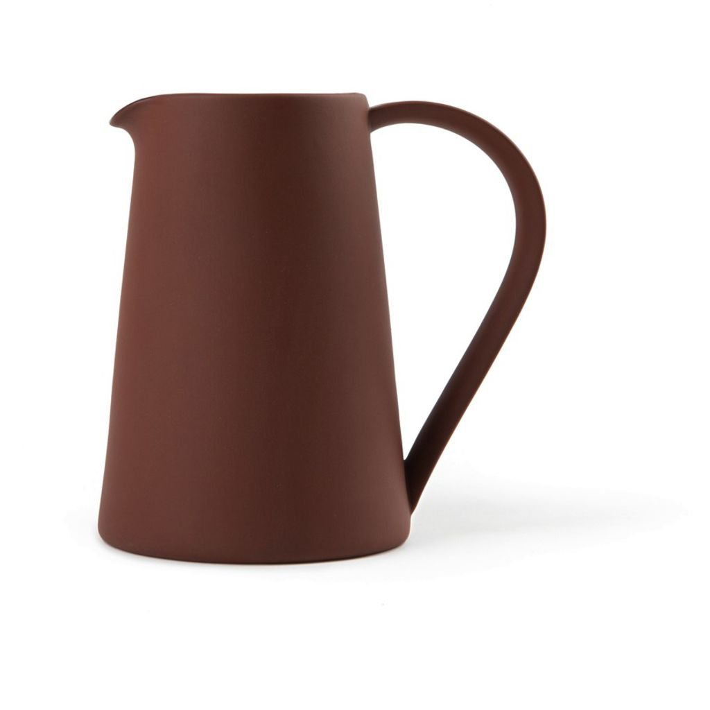 Another Country Stoneware Pitcher   Terracotta