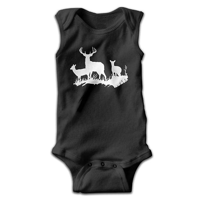 Deer Silhouette for Girls Baby Bodysuit
