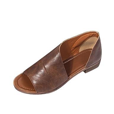 OYSOHE Sandalen Damen Sommer Frauen Fashion Solide Spitzschuh Ferse Rom Schuhe Cover Absatz Sandalen
