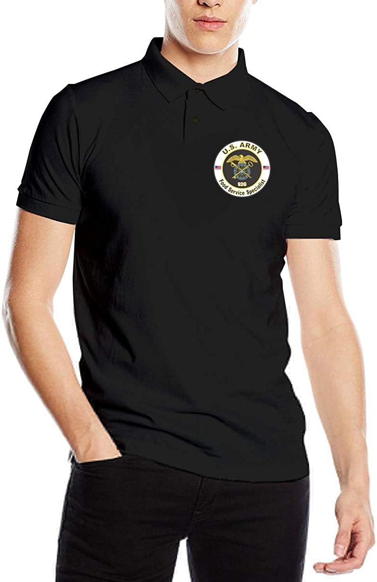 Army MOS 92G Food Service Specialist Men's Polo Shirts Adults Fashion Short Sleeve Golf Shirts
