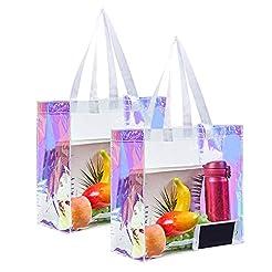 Eland Clear Tote Bag, 2-Pack Stadium App...