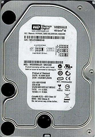 Western Digital WD3200AAJB-56WGA0 320GB DCM: HGRNHTJMHN (Western Digital Wd3200aajb)
