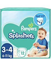 Pampers Baby Nappies Size 3 (6-11 kg/13-24 Lb), Splashers Swim Pants, 96 Count, SAVING PACK, Do Not Swell In Water