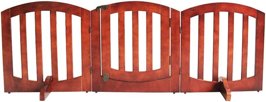 LITINGFC Bebé Puerta De La Escalera Barrera Madera Pura Puerta Plegable De Aislamiento for Mascotas Escalera De Cocina Interior for Niños Cerca De Protección Vertical, Marrón: Amazon.es: Hogar