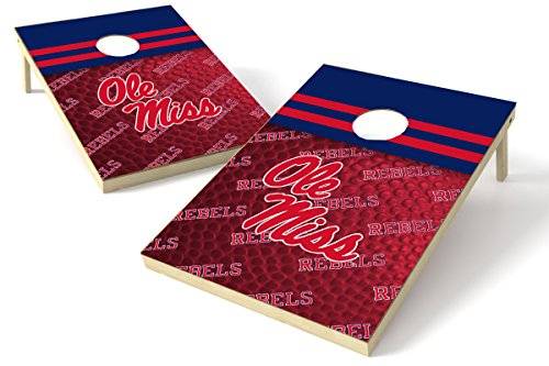 PROLINE NCAA College 2'x3' Ole Miss Rebels Cornhole Set - Pigskin Design