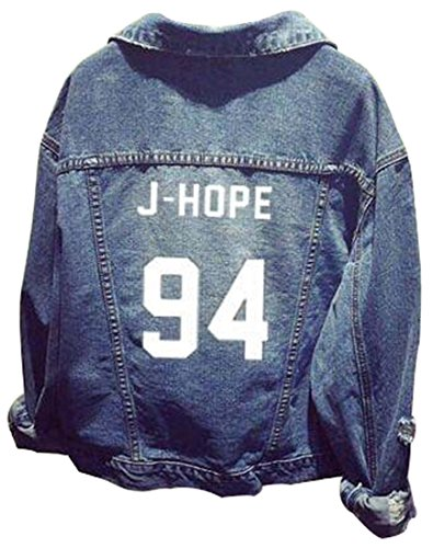 donna Pop hope J Lettering per Bangtan Stampa Unisex Kpop 94 Felpa Bianco Moda Fans Ragazzi Emilyle Hip Bts Denim Adolescente Top ZSAqPw