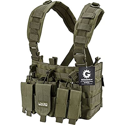 Loaded Gear BI12794 VX-400 Tactical Chest Rig, OD Green