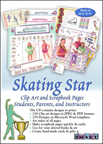 Ice Skating Clipart - ScrapSMART Skating Star Software with Clip Art and Scrapbook Pages. For Students, Parents, and Instructors [Download]