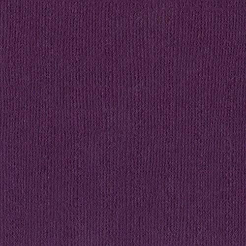 Bazzill Velvet 12x12 Textured Cardstock | 80 lb Mulberry Purple Scrapbook Paper | Premium Card Making and Paper Crafting Supplies | 25 Sheets per Pack
