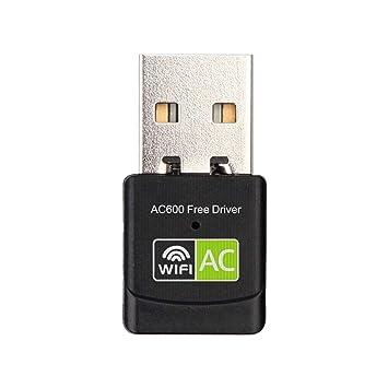 Dandeliondeme 600 Mbps Dual Band Wireless USB WiFi adaptador Mini ...