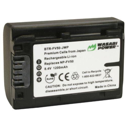 Japanese Cells - Kinamax 1200mAh NP-FV30/NP-FV40/NP-FV50 Replacement Battery for Sony HDR-HC9, HDR-XR150, HDR-XR350, HDR-XR550 - Premium Japanese Cells