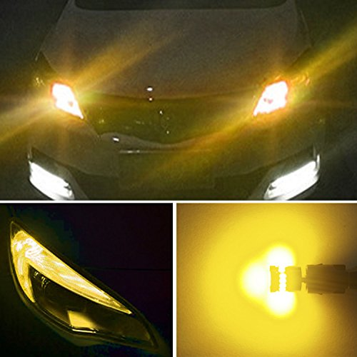 AUXITO 194 LED Light Bulb,Super Bright Amber Yellow 168 2825 W5W T10 Wedge 24-SMD 3014 Chipsets LED Replacement Bulbs for Car Dome Map License Plate Lights (Pack of 10) by AUXITO (Image #5)