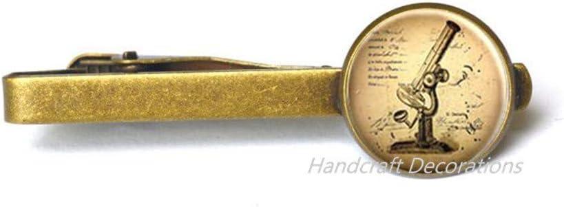 HandcraftDecorations Microscope Tie Clip,Science Tie Clip,Microscope Jewellery,Charm Tie Clip,Scientist Gift,Science Tie Clip. Science Teacher.F112