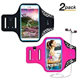 Running Armband Phone Armband, Waterproof iPhone 7 8 X Plus Galaxy Armband Case Holder, Adjustable Reflective Strip Armband for iPhone Samsung with Key and Cards Holder Headphone Jack (5.5inch)